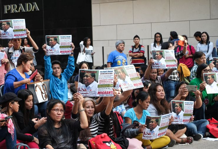 domestic worker protest