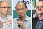 Timothy O'Leary, Cheung Kie-chung, Joseph Chan Cho-wai.