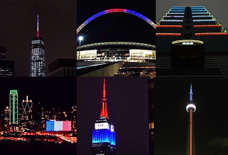 french flag buildings monuments