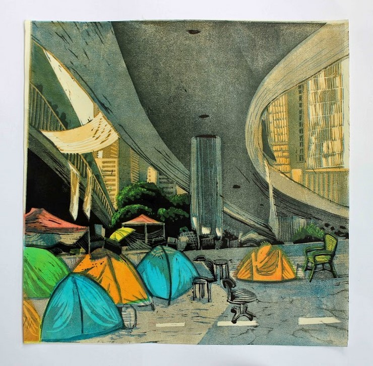 Karen Mead, Tents, Waiting.