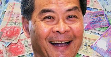 cy leung money bribery corruption