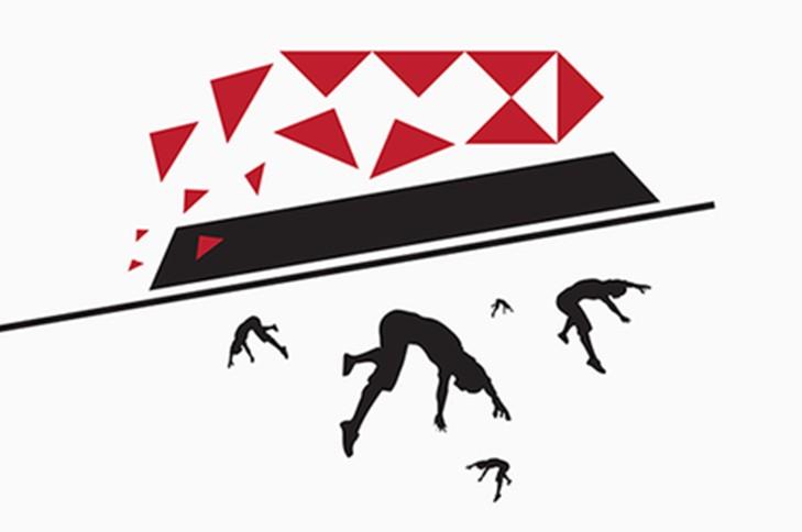 hsbc logo falling