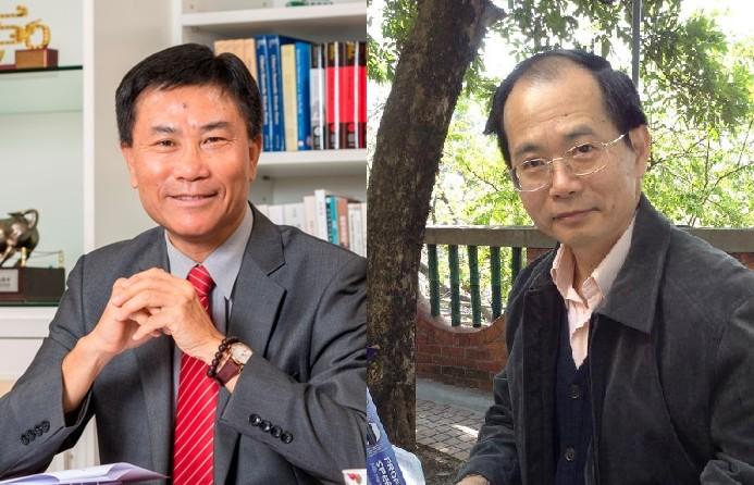 Leonard Cheng (left) Wan Chin (right).