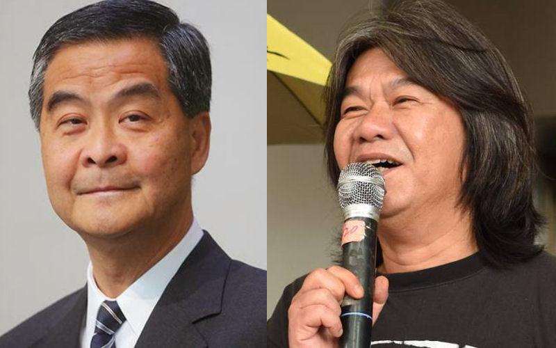Leung Chun-ying (left) and Leung Kwok-hung (right)