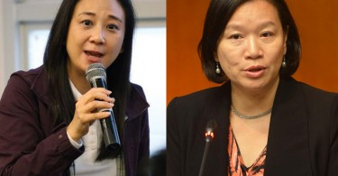 Elizabeth Quat (left) and Priscilla Leung (right).