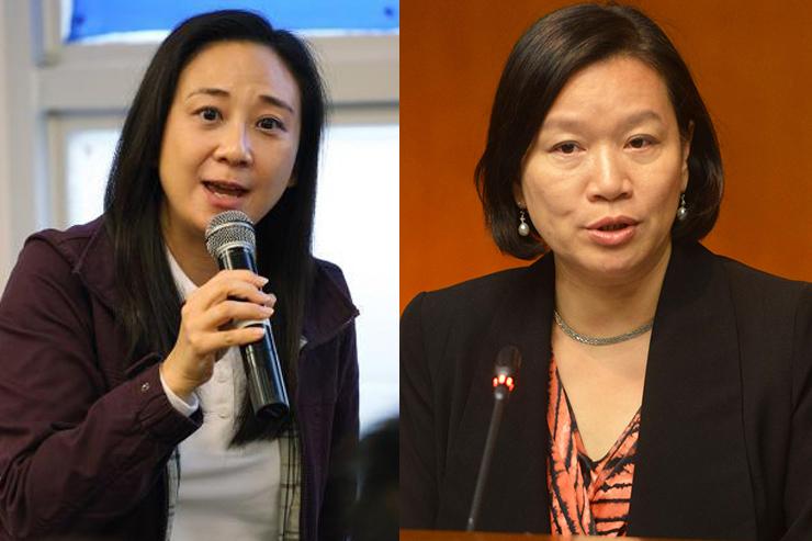 Elizabeth Quat (left) and Priscilla Leung (right).