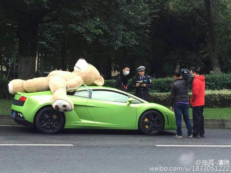 teddy on supercar