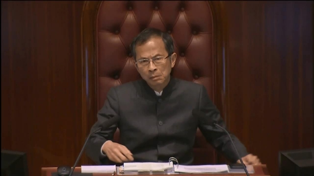 LegCo president Jasper Tsang when he announced the meeting was adjourned.