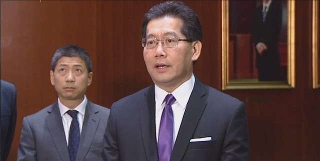 Secretary for Commerce and Economic Development Gregory So Kam-leung.