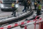 tram suspended