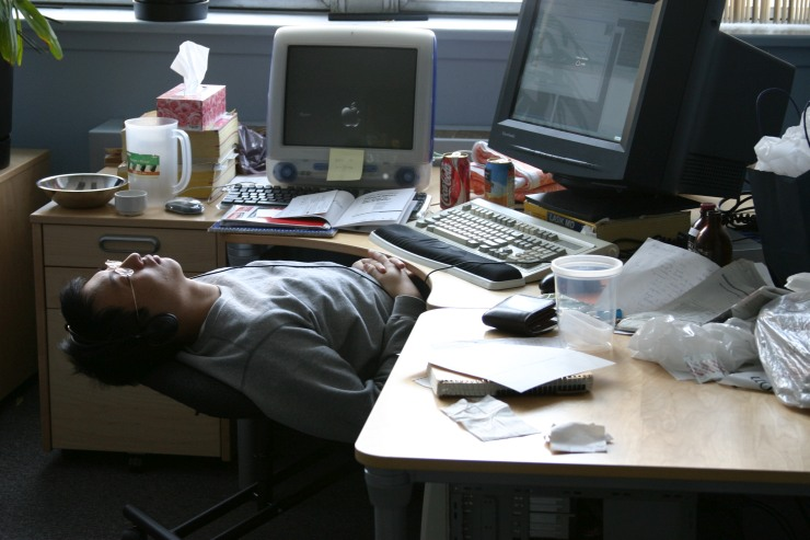sleeping work overwork