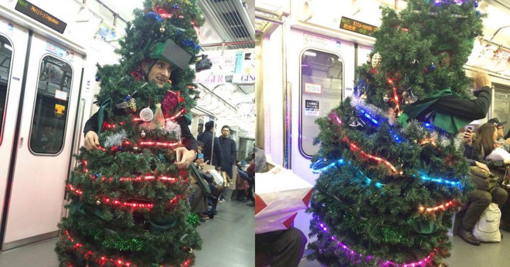 human christmas tree tokyo