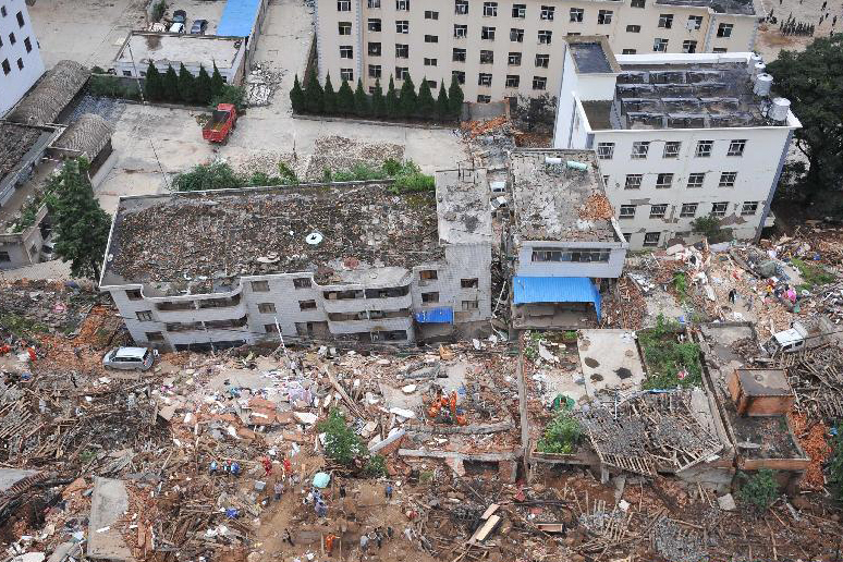Aftermath of earthquake in Ludian, Yunnan in August 2014