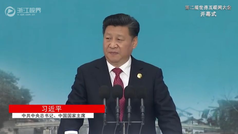 xi jinping talks internet