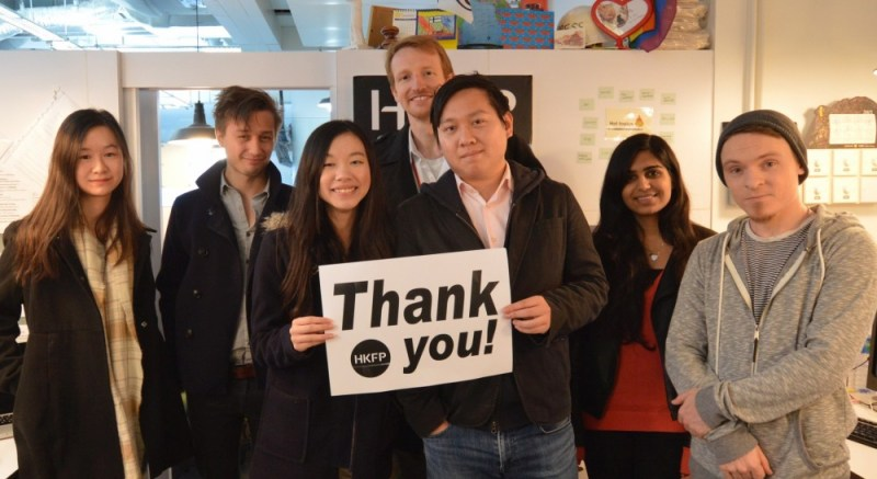 hong kong free press thank you