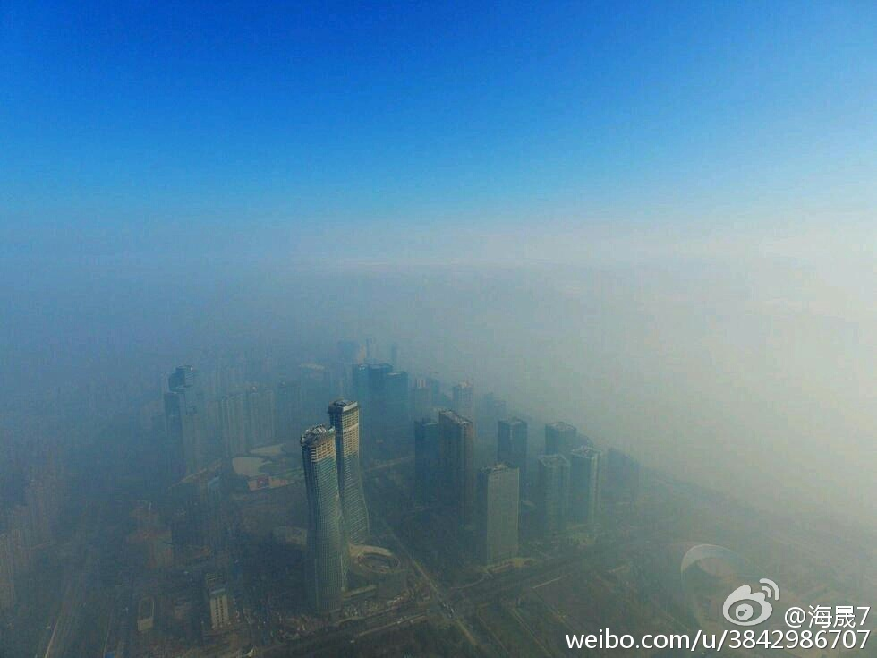 Smog-shrouded Hangzhou
