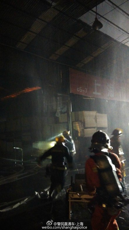 Firemen have put out the blaze. Photo: Weibo.