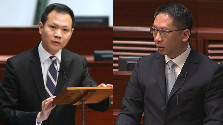 Dennis Kwok (left) and Rimsky Yuen (right)