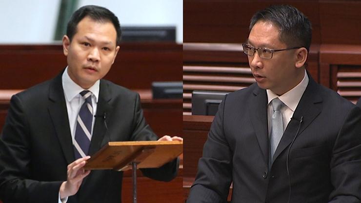 Dennis Kwok (left) and Rimsky Yuen (right)