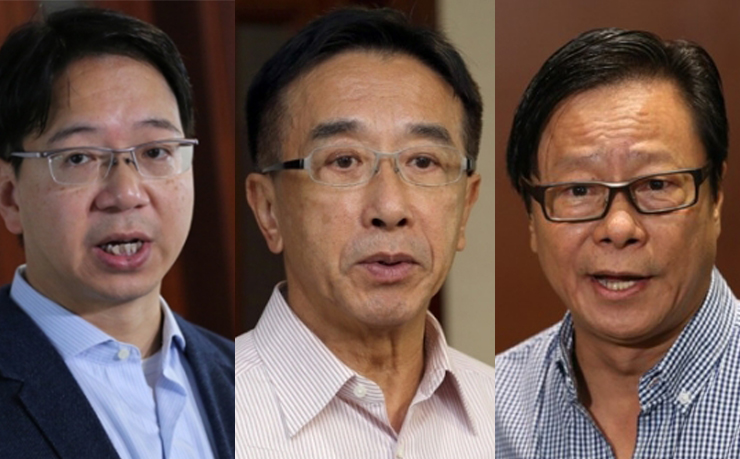 From left: Charles Mok, James Tien, Raymond Wong.