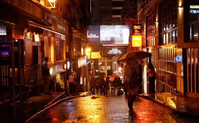 rainy hong kong