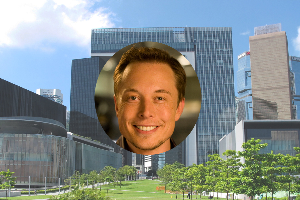 The talk of Elon Musk, CEO of electric-car company Tesla Motors, at a technology startup forum will be held inside the Central Government Offices in Admiralty, by invitation only.