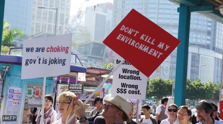 incinerator protest