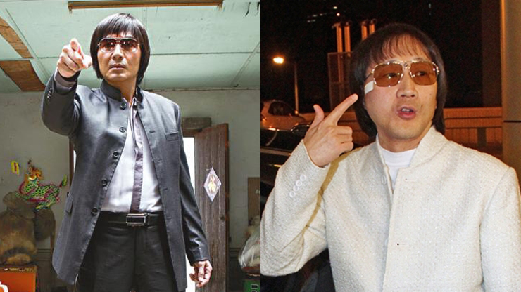 """A character in the movie Overheard 3 (left) and """"Shanghai Boy"""" Kwok Wing-hung (right)."""