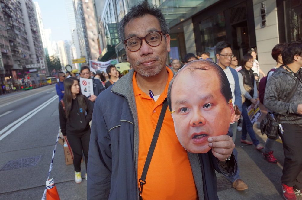 Mr Wong with the mask.