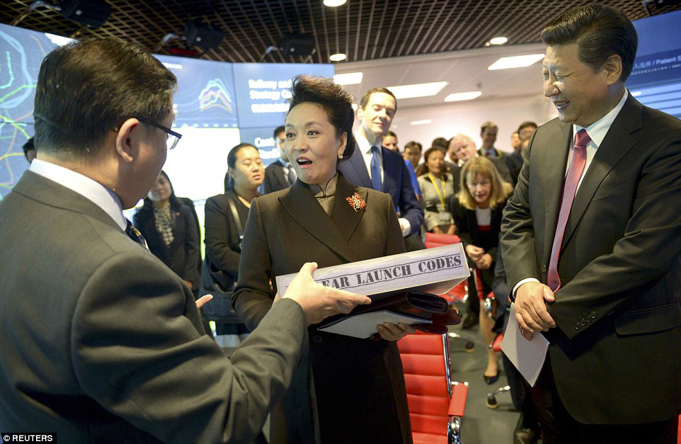 Peng Liyuan receives classified information as gift