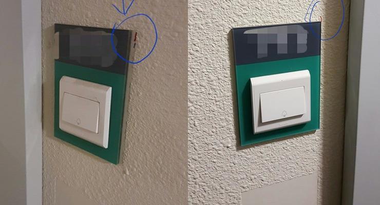 markings on doorbells