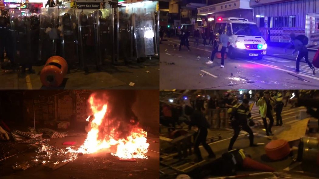 mong kok clashes unrest riot