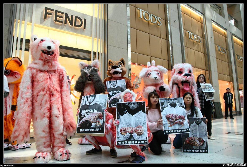 animal fur trade protest
