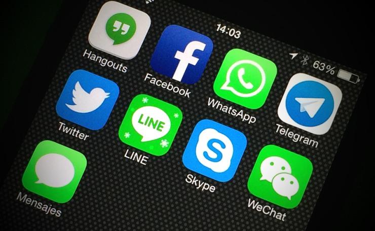 apps phone wechat facebook twitter social