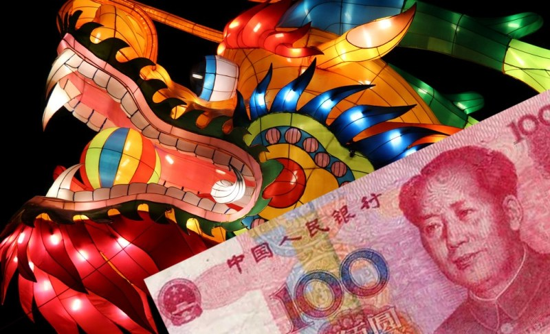 china dragon spending cash rmb china