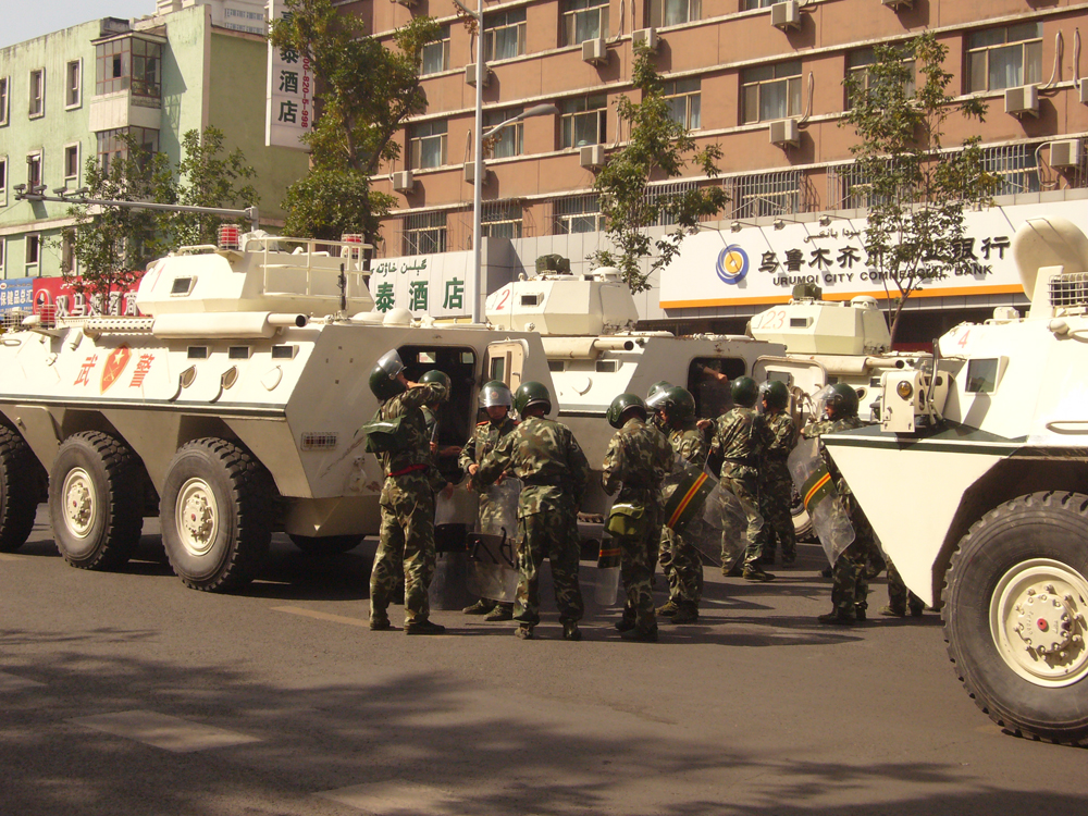 Armed police in Xinjiang. Photo: Wikicommons.