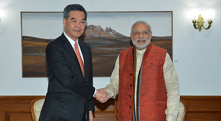 modi and cy leung india