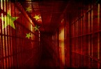 China Flag with jail overlay