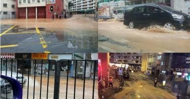 To Kwa Wan flood