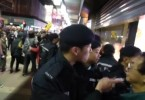 Police and protesters in Mong Kok Feb 11
