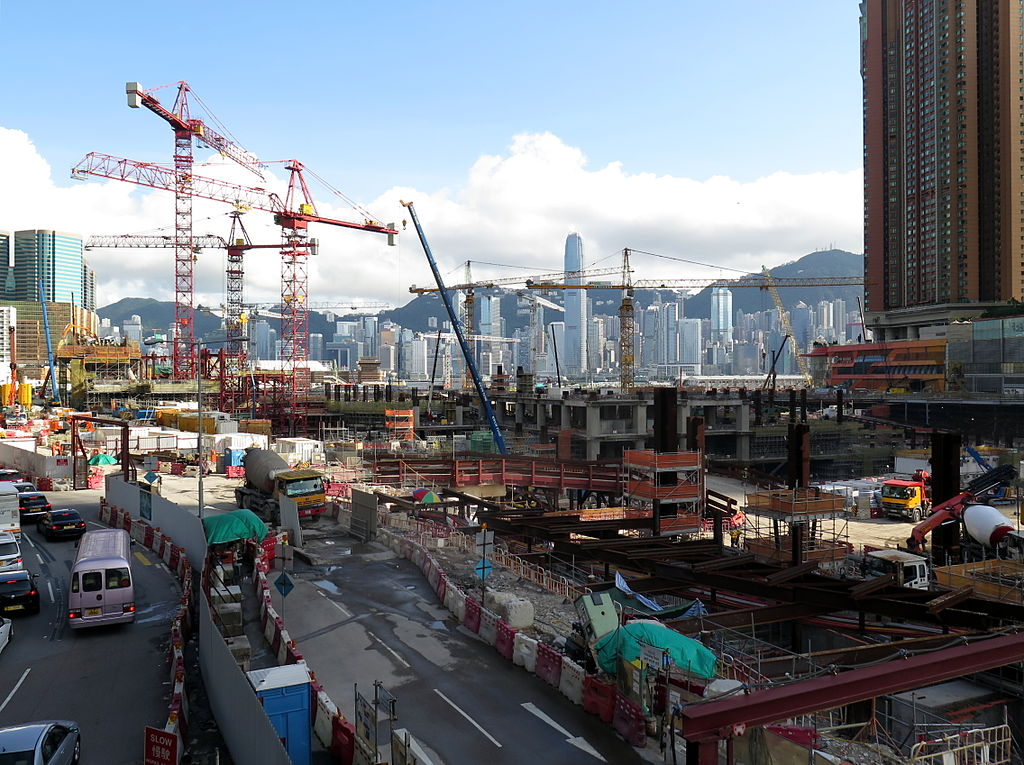 Express Rail Link's West Kowloon Terminus under construction. Photo: Wikimedia.