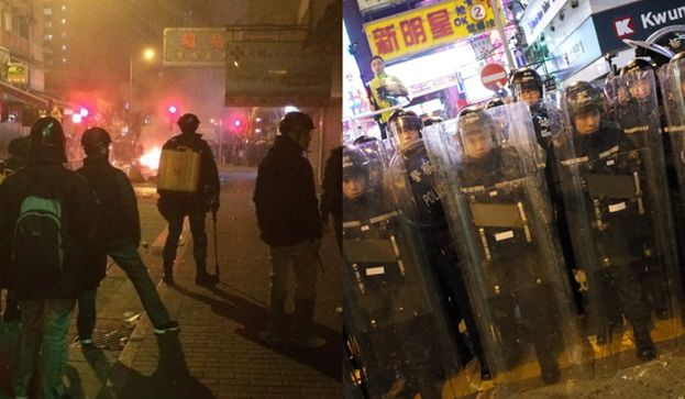 People at Mong Kok unrest