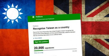 taiwan uk petition