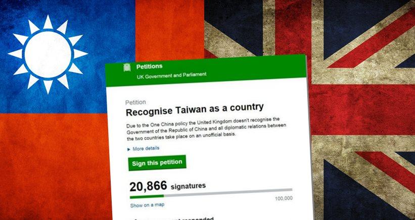 taiwan uk petition