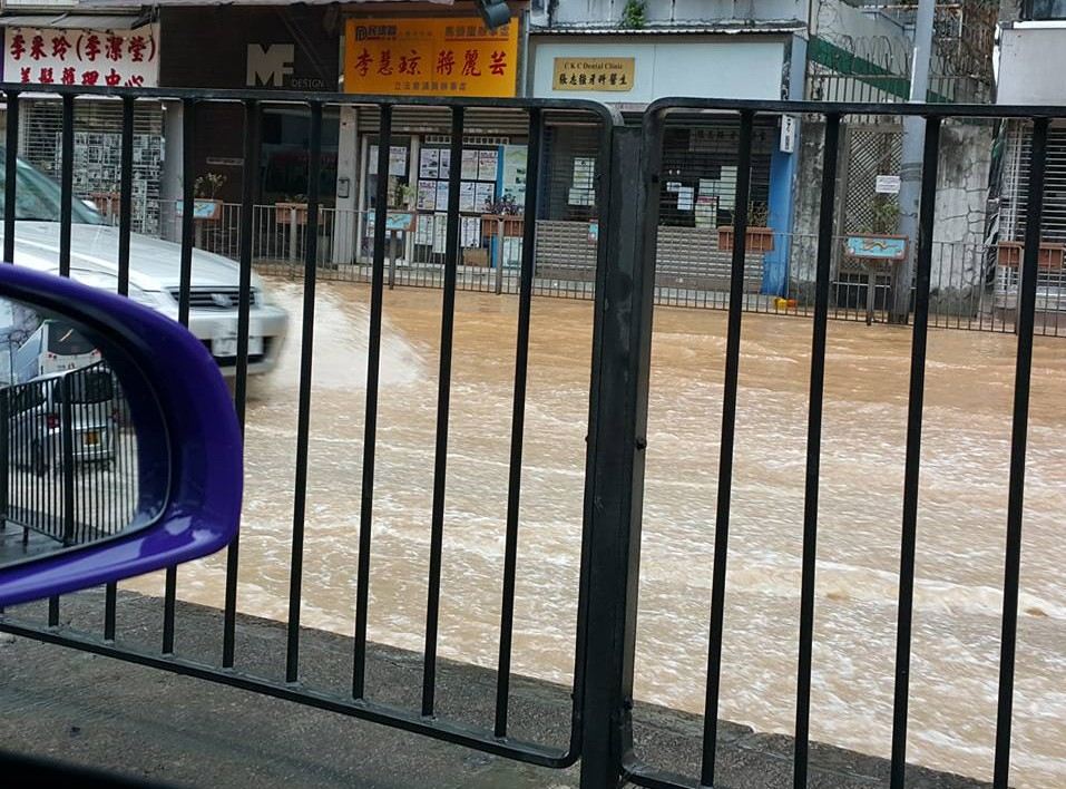 Flooding in To Kwa Wan
