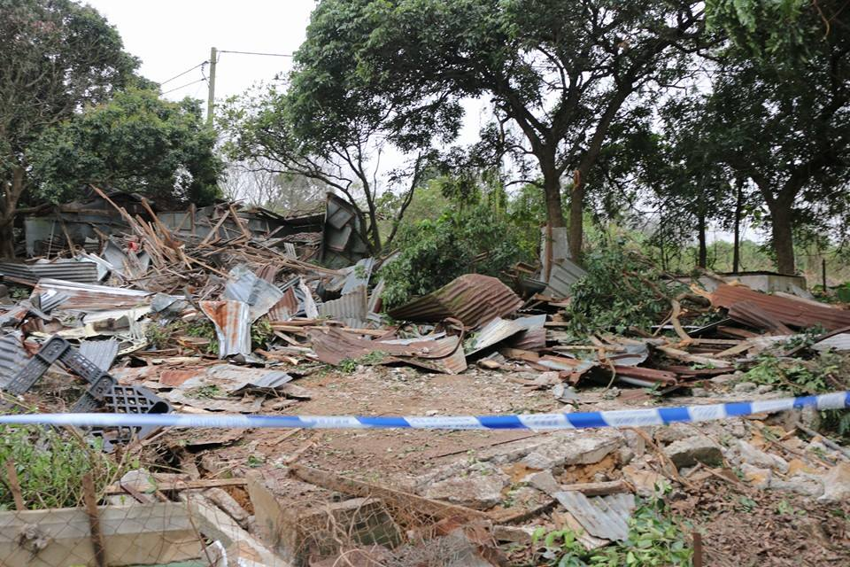 hut destroyed kwu tung