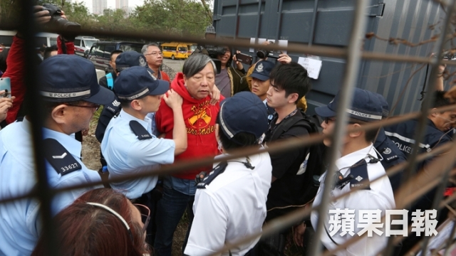 protesters dump site