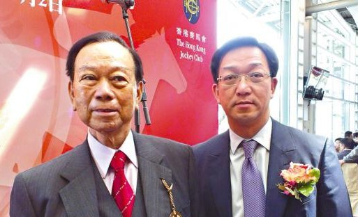 Lau Wong-fat and son Kenneth Lau Ip-keung