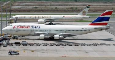 Orient Thai Boeing 747 aircraft