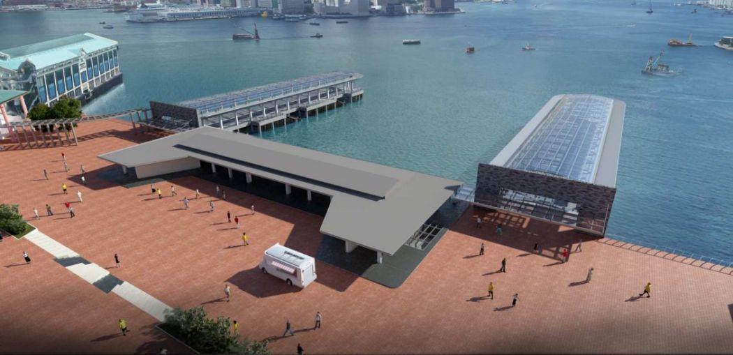 Queen's Pier relocation option B.